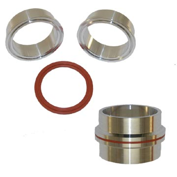 Custom Aluminum V-Band Intake Flange