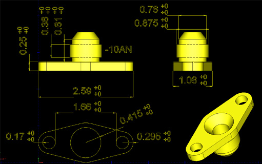 Oil Feed Flange