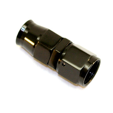 Stainless Steel Line Straight Adaptor, -4 AN Black
