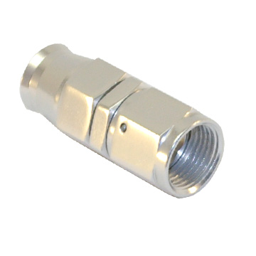 Stainless Steel Line Straight Adaptor, -4 AN Silver
